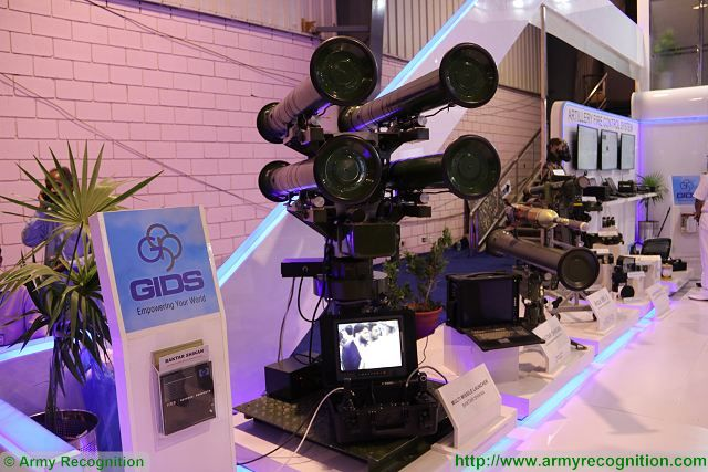 Baktar Shikan multi-missile launcher station GIDS IDEAS 2016 Defense Exhibition Karachi Pakistan 640 001