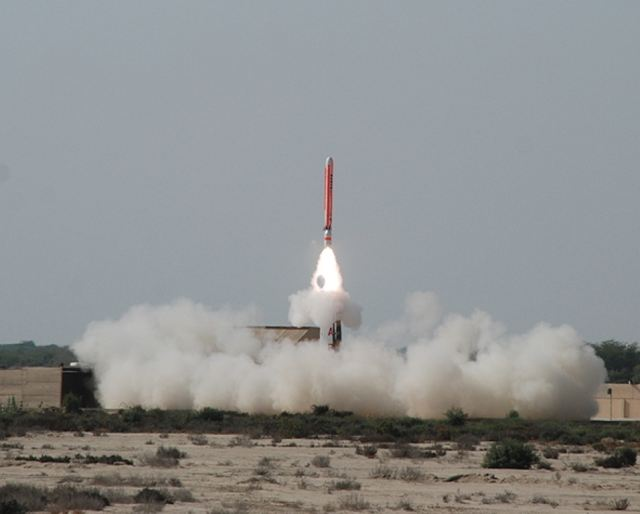 Pakistan's military says it has successfully test-fired the cruise missile Hatf-7 (Babur) capable of carrying a nuclear warhead on Monday, September 17, 2012. The launch, the site of which was not disclosed, was made from a mobile launcher according to media reports.