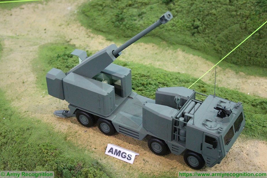Latest development of ST Kinetics AMGS 155mm artillery gun system Singapore AirShow 2018 925 001
