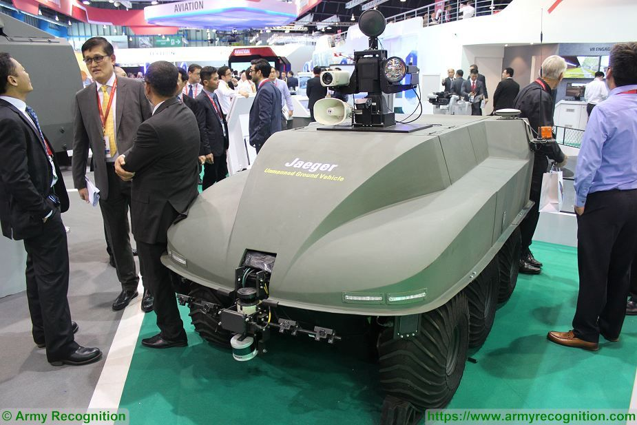 ST Kinetics unveils its Jaeger 6 UGV Unmanned Ground Vehicle at Singapore AirShow 2018 925 001