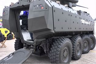 Terrex 3 8x8 armoured vehicle personnel carrier technical data sheet specifications description information identification intelligence pictures Singapore ST Kinetics army defence industry military technology