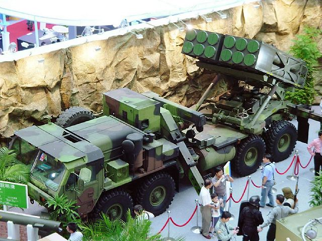 Taiwan is scheduled to take delivery next month of the new powerful multiple-launch rocket system aimed at neutralising former rival China's amphibious landing capabilities, local media reported Sunday, July 22, 2012.