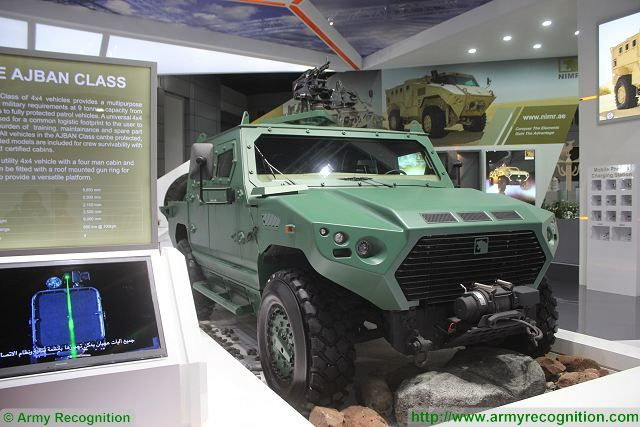 Ajban 440 4x4 armoured vehicle NIMR Defense and Security 2015 exhibition Thailand Bangkok 640 001