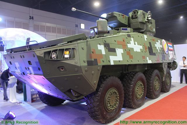 Back Widow Spider DTI 8x8 armoured vehicle Defense and Security 2015 exhibition Thailand Bangkok 640 001