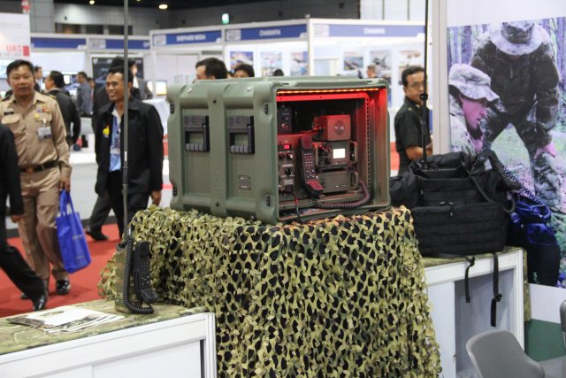 Barrett Tactical Communications presents its main rapid field deployment system (RFDS 640 001