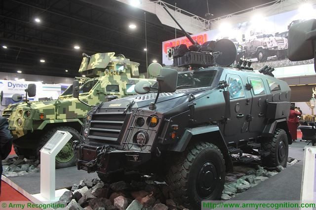 The Thai Defence Company Chaiseri presents its full range of First Win family of 4x4 armoured vehicles at Defense and Security 2015, international exhibition in Bangkok, Thailand. Chaiseri is now one of the major military product suppliers for the Royal Thai Army.