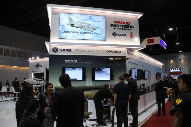 SAAB is exhibiting at Defense and Security alongside its Thai partner AVIA Satcom 640 001