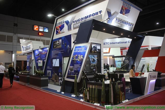 Yugoimport Serbia military equipment Defense and Security 2015 exhibition Thailand Bangkok 640 001