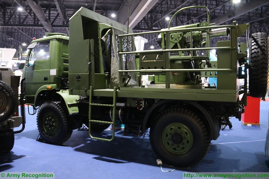 ATTM Autonomous Truck Mounted Mortar 120mm developed by Thailand Defense and Security Thailand 2017 in Bangkok 925 001