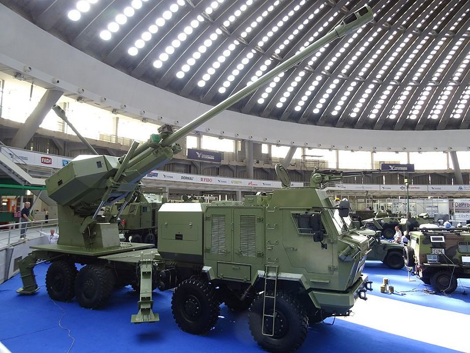 Aleksandar 155mm self propelled howitzer Yugoimport at Defense and Security Thailand 2017 in Bangkok 925 002