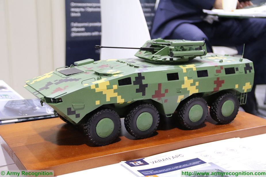 Varan 8x8 APC RCWS 30 weapon station Techimpex at Defense and Security Thailand 2017 in Bangkok 925 001