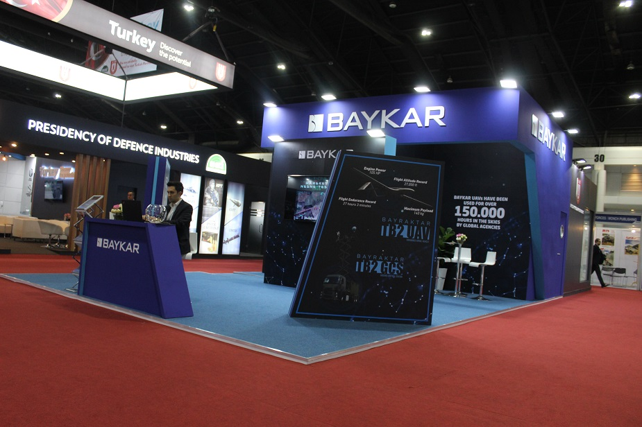 Defense Security Thailand 2019 Baykar features its UAV and future flying car