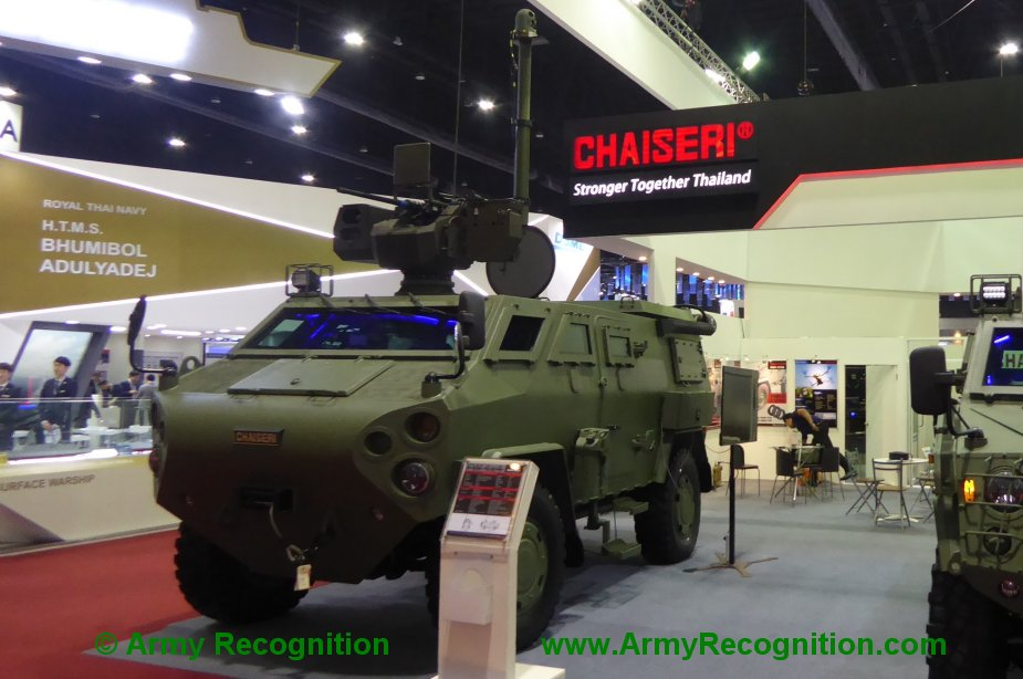 Defense Security Thailand 2019 Chaiseri displays new First Win 4x4 ATV armored vehicle
