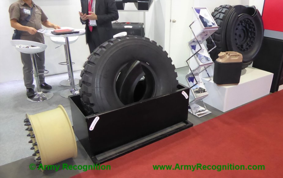 Defense Security Thailand 2019 Hutchinson promotes Tyre Saver Shield and Safetank 1