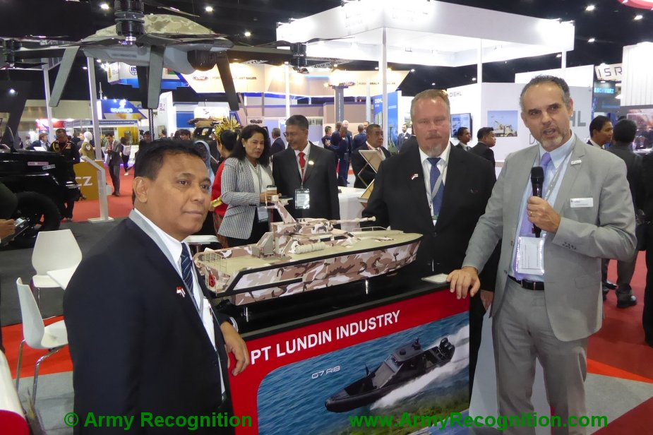 Defense Security Thailand 2019 John Cockerills C3105 turret to be fitted by PT.Lundin on X18 Tank Boat 1