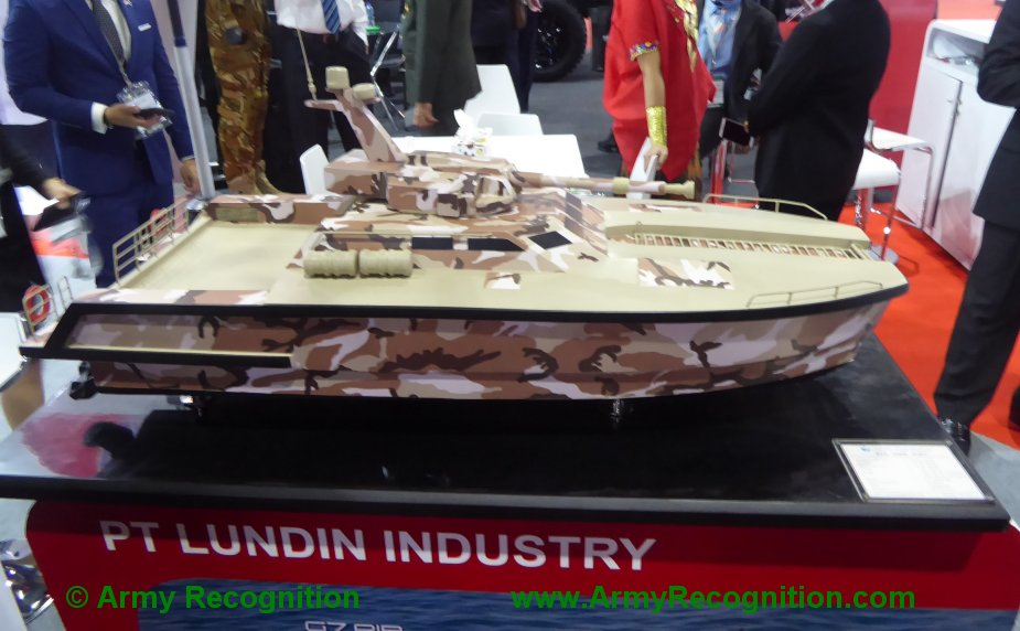 Defense Security Thailand 2019 John Cockerills C3105 turret to be fitted by PT.Lundin on X18 Tank Boat 2