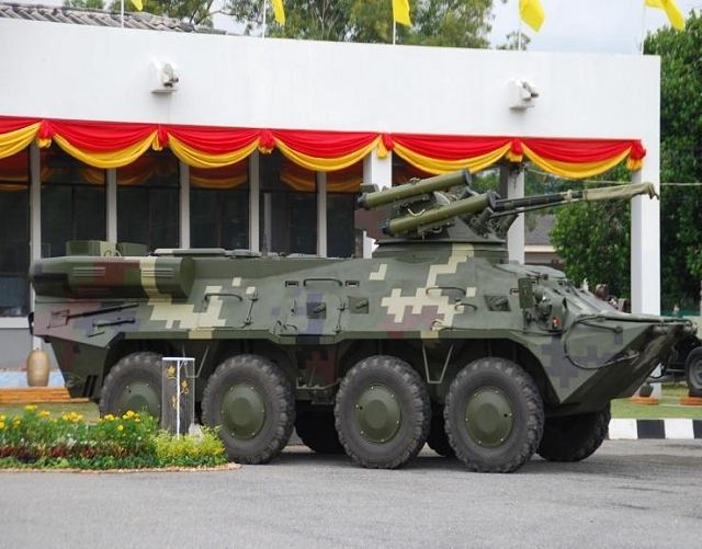 """Ukrspetsexport"" concluded with Thailand, a contract to supply 121 BTR-3E1, said in a statement posted on the website of the Ukrainian state company. The deal amounted to $ 140 million. This contract was added to the already concluded in 2007 an agreement for the supply of 96 armored vehicles to Thailand. Earlier it was reported that Thailand plans to buy the BTR-3E1 on the defense budget savings."