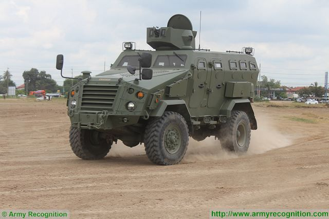 First Win 4x4 multipurpose armoured vehicle Chaiseri Thailand Thai army defense industry 640 001