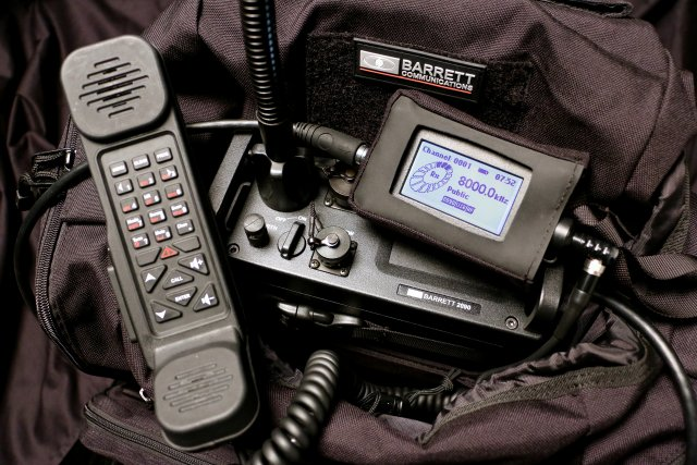 Barrett Communications 2090 HF manpack transceiver