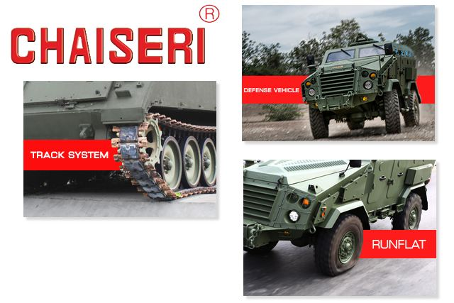 Chaiseri Defense armoured vehicle run-flat track systems designer manufacturer Thailand Thai industry military technology