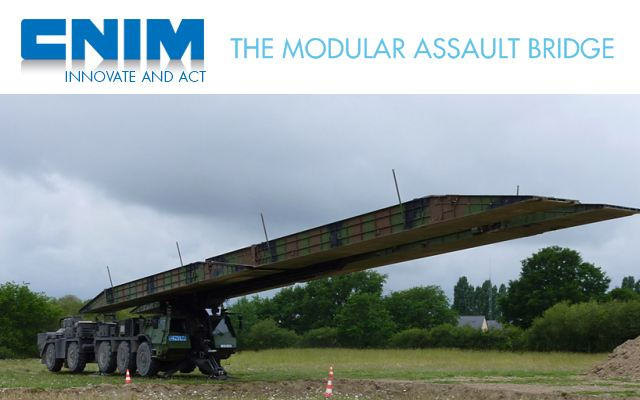 CNIM modular assault motorized pontoon bridge France French defense security industry army military technology equipment