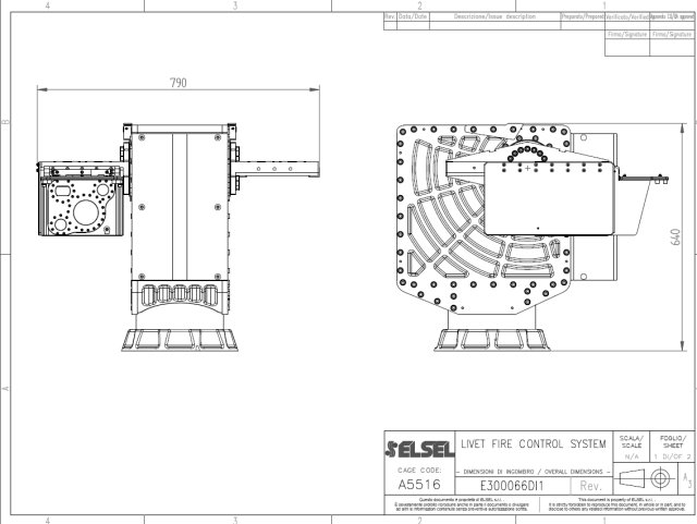 ELSEL remotely controlled dual weapons system technical drawing 640 001