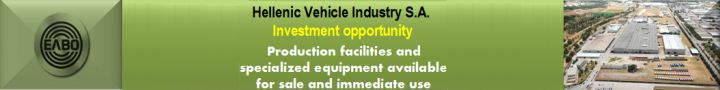 Elvos Hellenic Industry S.A. Investment opportunity production facilities and specialized equipment available  for sale and immediate use