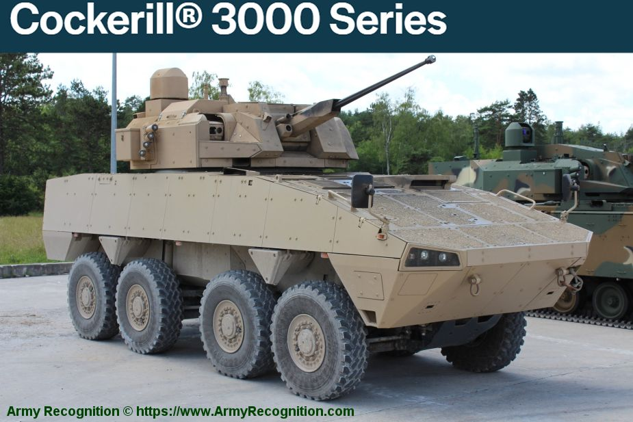 John Cockerill turret weapon stations manufacturer Belgium 3000 Series 925 001