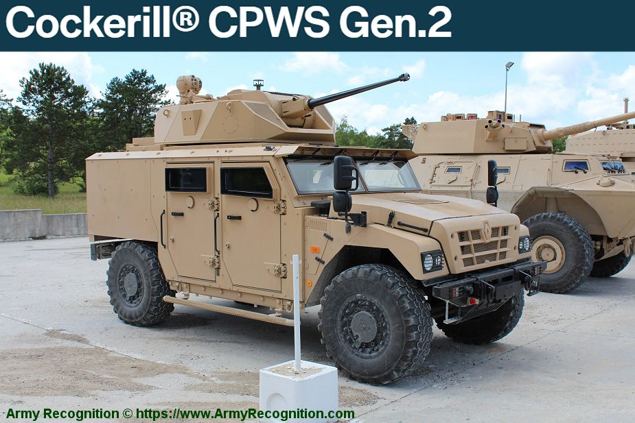 John Cockerill turret weapon stations manufacturer Belgium CPWS Generation 2 925 001