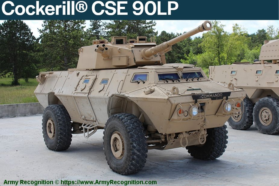 John Cockerill turret weapon stations manufacturer Belgium CSE 90LP 925 001