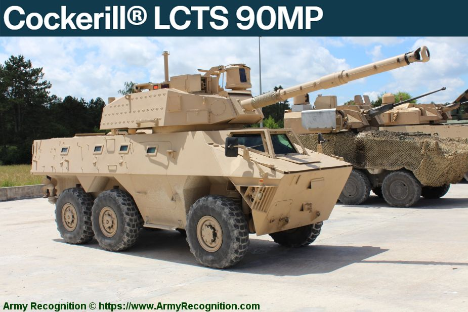 John Cockerill turret weapon stations manufacturer Belgium LCTS 90MP 925 001