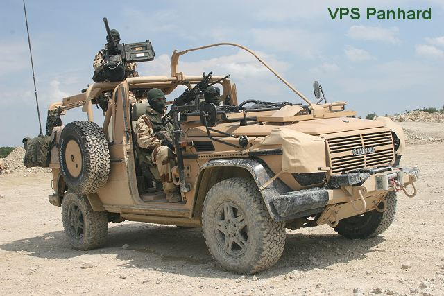 Panhard has extensive experience in this field and, in particular, supplies VBL Source light armoured vehicles in co-operation with Thales, VBL PRB armoured patrol vehicles for the French Army's 2nd Hussards Regiment and the SAS (VPS) patrol vehicles for special forces.