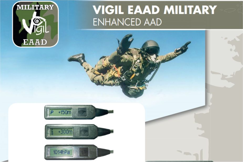 Vigil AAD Automatic Activation Device of parachute for military units and airborne troops details 925 001