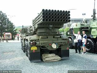 RM-70 M1972 122mm MLRS Multiple Launch Rocket System Technical data sheet specifications description information identification pictures photos images video Czech Republic army defence industry military technology