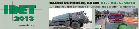 IDET 2013 show daily news coverage report pictures video International Exhibition Defence Security Technologies Brno Czech Republic news information description pictures images photos salon international de défense et des technologies de sécurité Brno République Tchèque