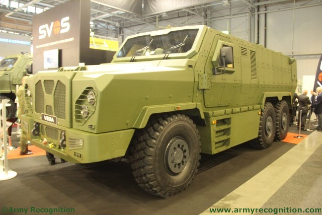 At IDET 2015 SVOS showcases a 6x6 version of its VEGA multi-role armoured vehicle 640 001