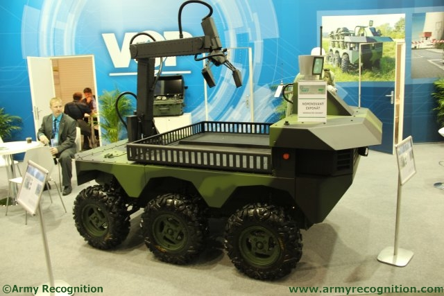 Czech defence company VOP presents for the first time at IDET its TAROS V2 6x6 UGV
