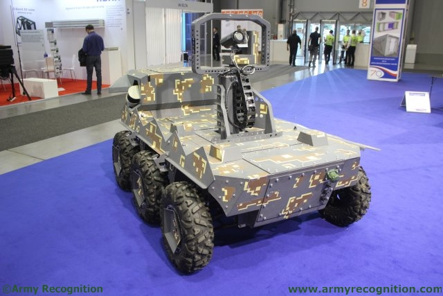 Czech defence company VOP presents for the first time at IDET its TAROS V2 6x6 UGV 640 003