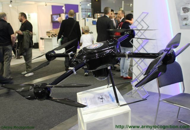 IDET 2015 Discover the ITWLs ATRAX quadrocopter VTOL Unmanned Aerial Vehicle 640 001