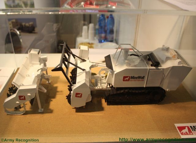 MineWolf Systems unmanned Mini MineWolf MW240 introduced at IDET 2015 640 002