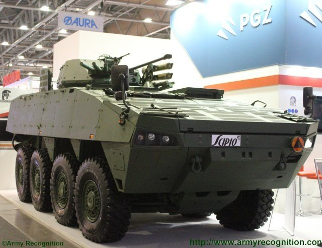 Rosomak EVPU unveil the Scipio project a Turra 30turret fitted on Rosomak armoured vehicle 640 001