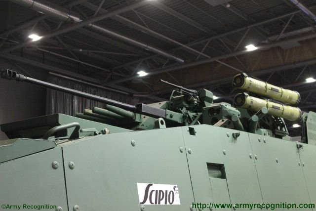 Rosomak EVPU unveil the Scipio project a Turra 30turret fitted on Rosomak armoured vehicle 640 002