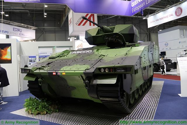 General Dynamics European Land Systems (GDELS) proposes its ASCOD tracked IFV (Infantry Fighting Vehicle) for the replacement of old Soviet-made BMP-2 of Czech Army. At IDET 2017, the International Defence and Security Technologies Fair in Czech Republic, GDELS exhibits the ASCOD IFV fitted with an Israeli-made Rafael unmanned turret called Samson Mk II.