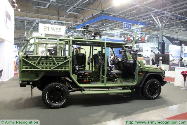 The Fox is a RDV (Rapid Deployment Vehicle) with excellent off-road performance intended for the need of special forces or rapid deployment forces. The vehicle transports a four-member crew and equipement, including armaments. The Fox is exhibited at Zetor Engineering booth during IDET 2017 in Brno, Czech Republic.