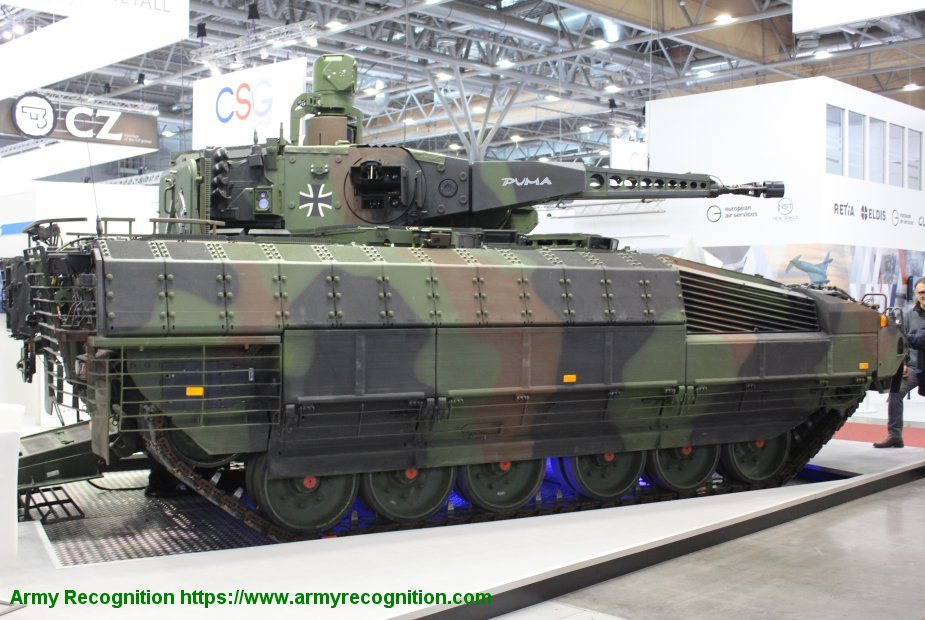 IDET 2019 PSM presents its PUMA vehicle to replace the BMP 2