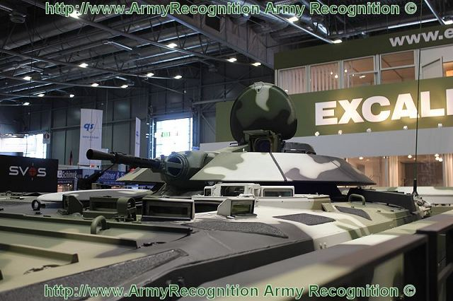 The Czech Company Excalibur Army presents at the International Exhibition of Defence Technologies IDET 2011, a new technology demonstrator armoured personnel carrier, the MGC-1, based on the Russian made infantry fighting vehicle BMP-1, with an armour package.
