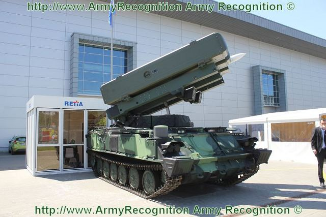 At the International Exhibition of Defence and Security Technologies IDET 2001, the French Company MBDA and the Czech Company Retia present a joint modernization project of Russian made SA-6 Gainful air defense vehicle, armed with three Surface-to-Air missile Aspide 2000, the SA-6 2K12 KUB CZ.