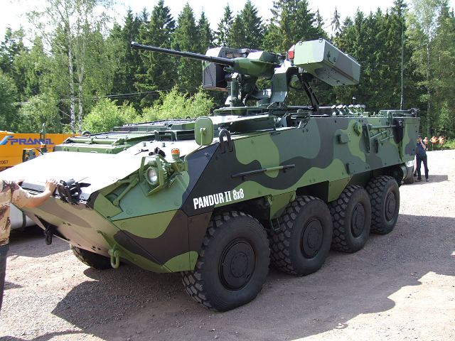 Pandur II 2 CZ M1 wheeled armoured data sheet specifications description information identification pictures photos images Czech Republic army wheeled military vehicle Ceska Zbrojovka infantry fighting vehicle