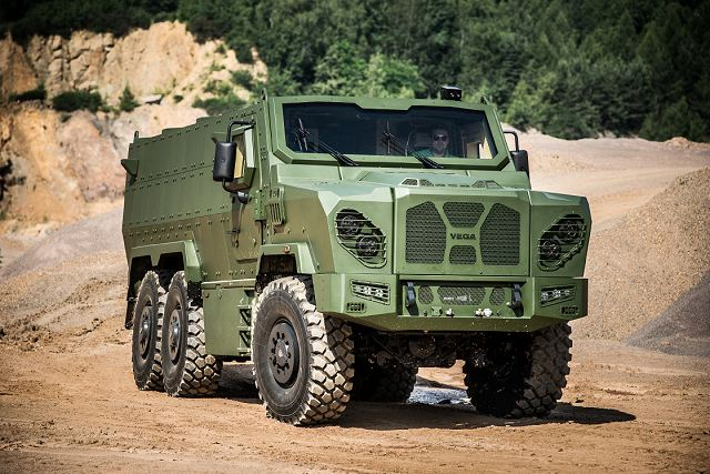 Vega 6x6 armoured vehicle personnel carrier SVOS Czech Republic defense industry military equipment 640 001
