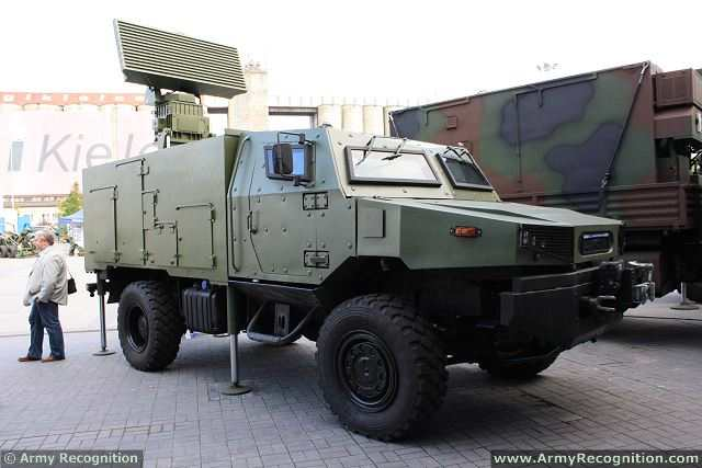 MMSR Mobile Multibeam Search 3d Radar Zubr 4x4 armoured Kobra air defense system Poland Polish army 640 001